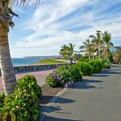 Gran Canaria camminamento per Maspalomas playa