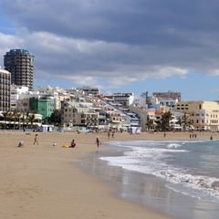 Gran Canaria playa de la Canteras a Las Palmas