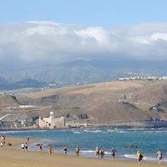 Gran Canaria playa de Las Canteras a Las Palmas