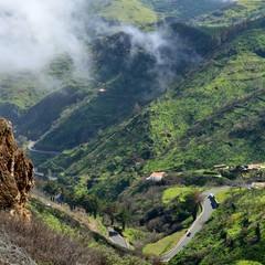 Gran Canaria strada di montagna