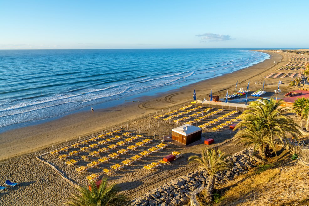 Maspalomas playa de Inglés a Gran Canaria