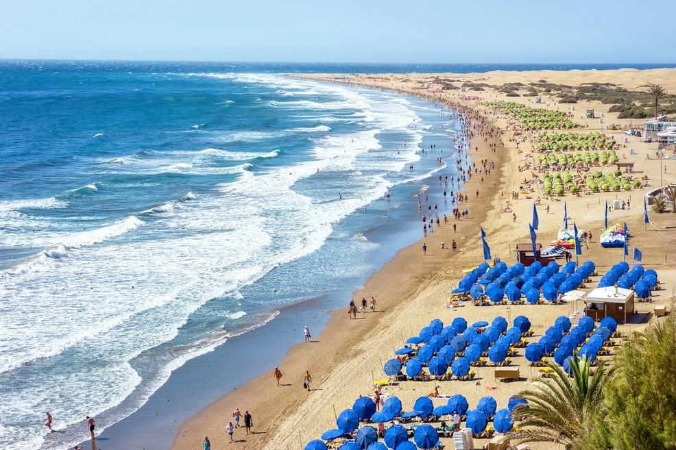 Playa del Ingles a Gran Canaria