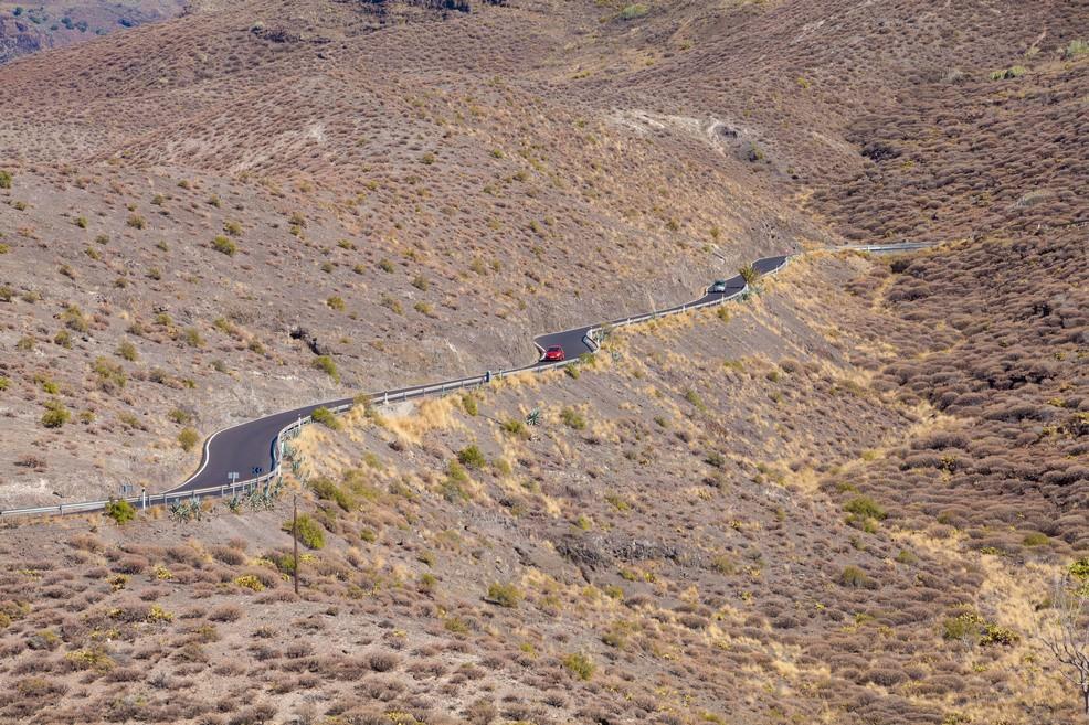 Gran Canaria strada da Agaete a La Aldea de San Nicolas
