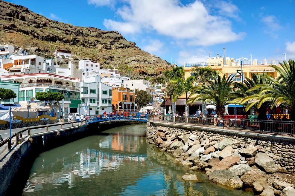 Vista del canale in Puerto de Mogán a  Gran Canaria