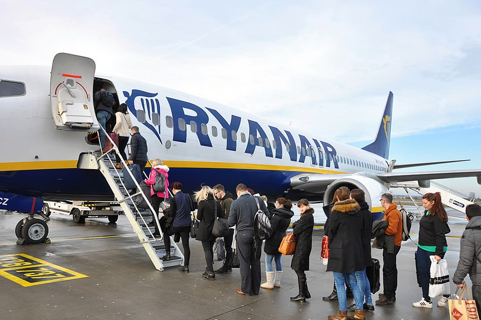 Imbarco volo Ryanair