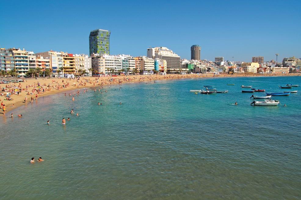 Playa de Las Canteras Las Palmas di Gran Canaria