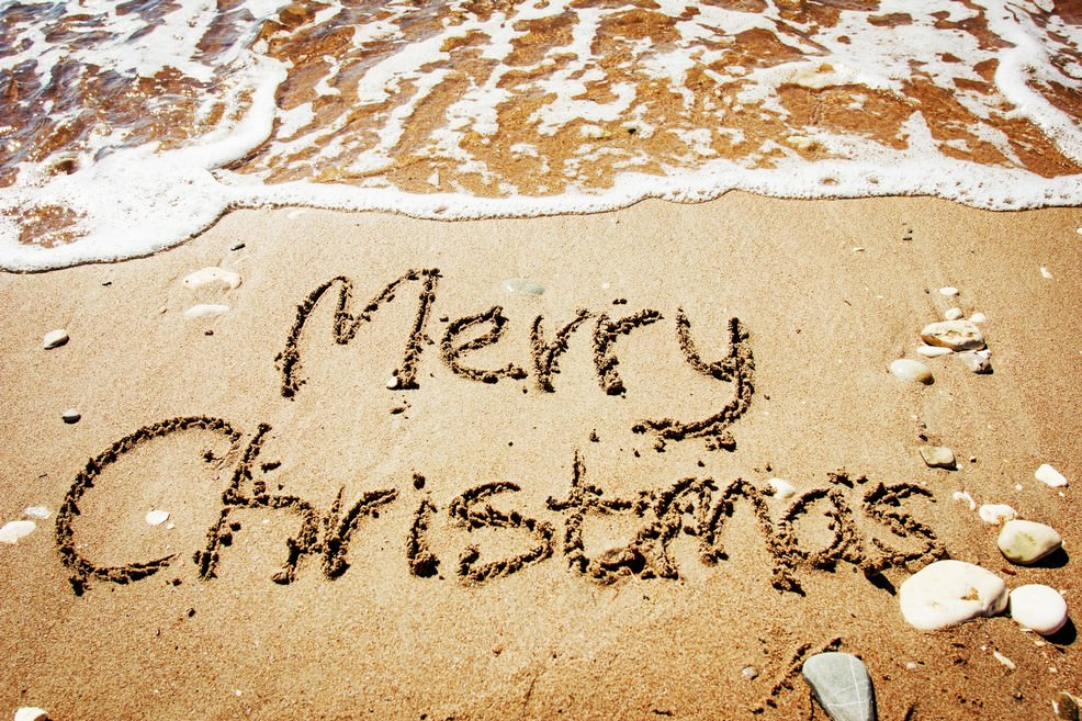 Spiaggia e mare a Natale
