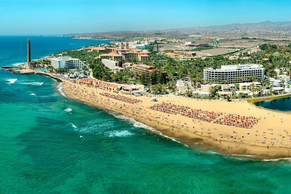Vista aerea di Maspalomas a Gran Canaria